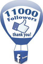 11000 Followers on Facebook