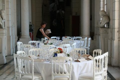 cena al castello dopo il volo