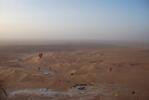 sorvolo delle dune al tramonto