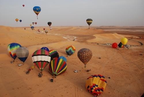 decollo simultaneo nel deserto